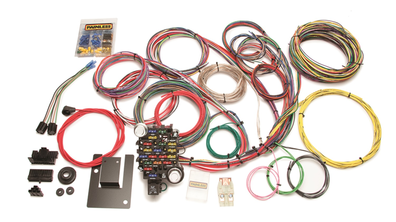 painless 20106 28 circuit customizable classic-plus tri-five chevy chassis  harness