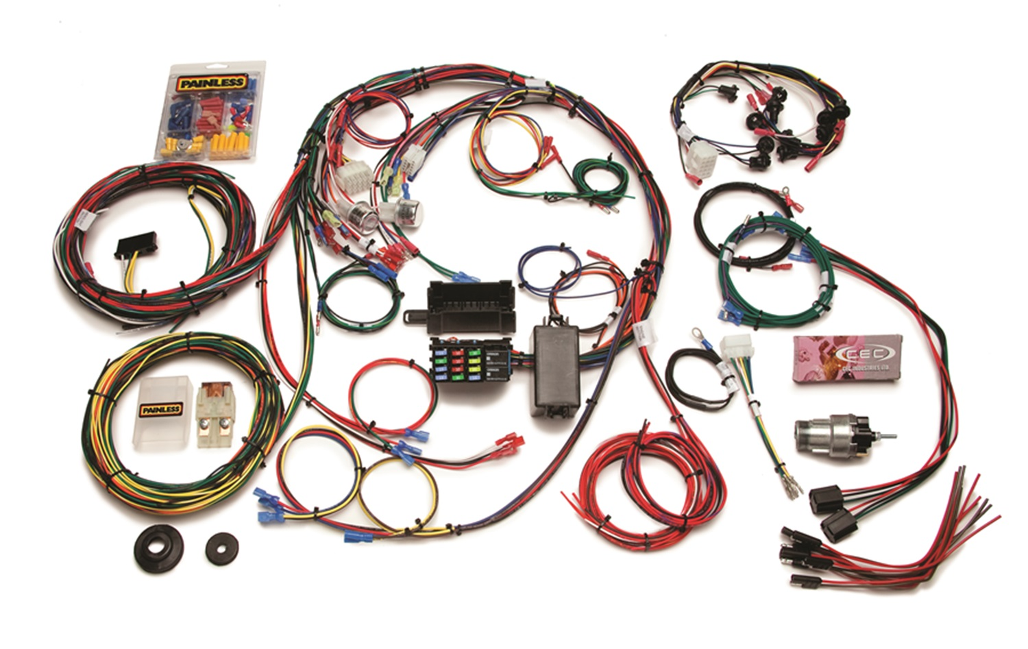 20121 painless 20121 23 circuit direct fit mustang chassis harness pi