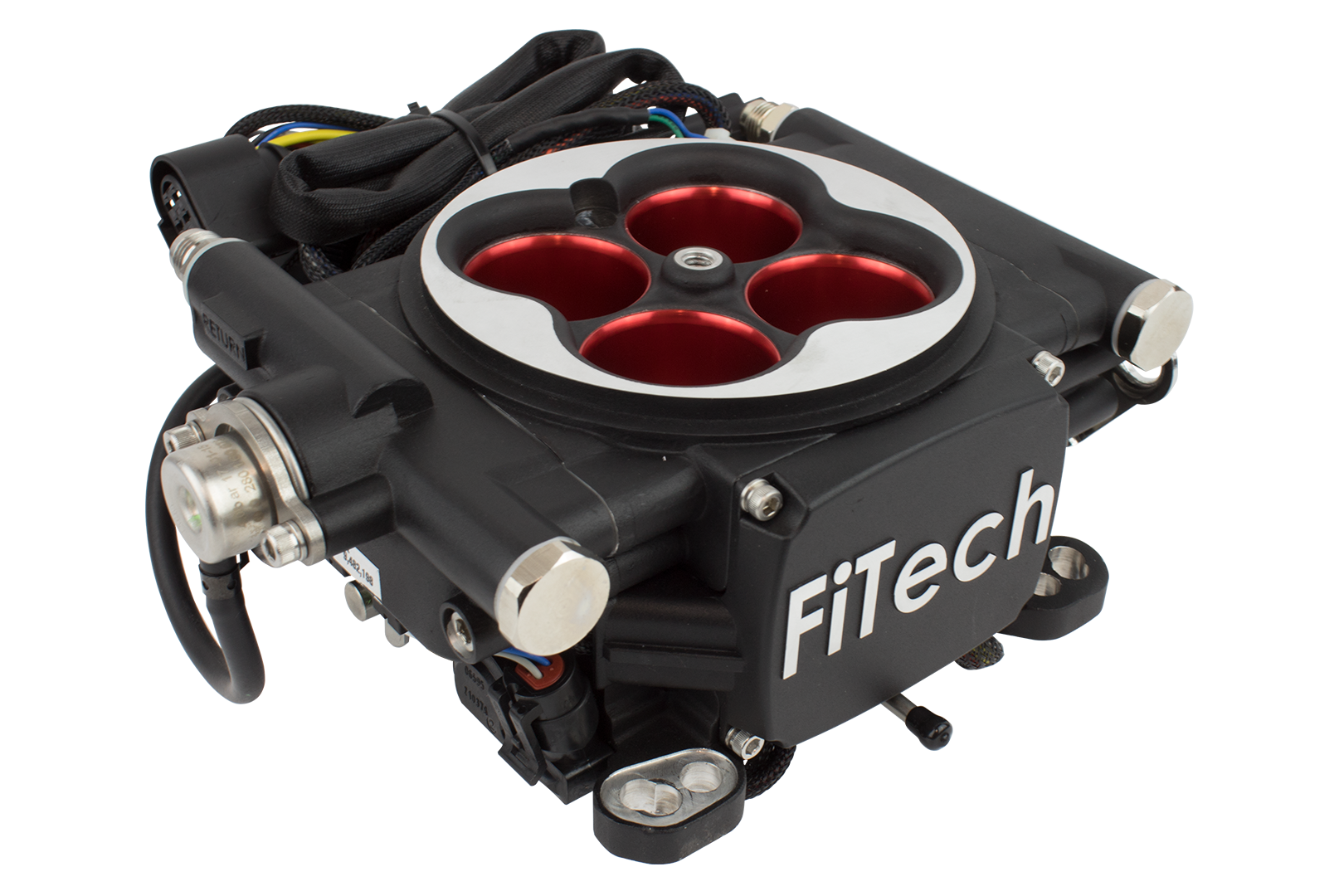 FiTech 30004 Go EFI 4 Power Adder Matte Black 600HP