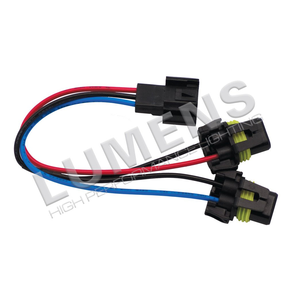 LUMENS H13 Female Connector To 2 Male 9006 Each Pi Speedshops